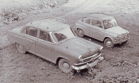 1957 Volga and 1958 FIAT 600